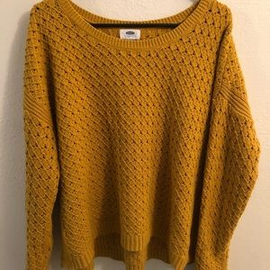 Mustard Yellow Chunky Old Navy Sweater